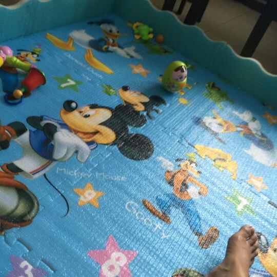 迪士尼(Disney)婴儿爬行垫 客厅儿童加厚可折叠双面XPE家用地垫 宝宝爬爬垫 智慧屋180*150*2.0cm【卷筒款】 晒单图