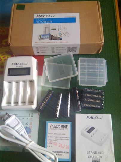 星威(PALO) 液晶智能快速充电电池充电器四槽可充5号7号镍氢镍镉AA/AAA电池 充电器+8节5号2600+4节7号900 晒单图