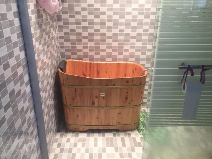 尚田 香柏木泡澡木桶 洗澡盆 沐浴桶 实木75高浴缸 STB-032贵妃桶 1米长泡浴桶 晒单图