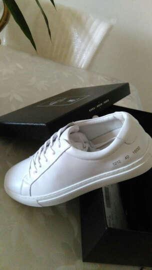 皓顿(HAUT TON)休闲鞋男鞋新品夏季韩版板鞋时尚透气小白鞋子男 XB068白色 42 晒单图
