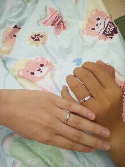 爱情公寓情侣戒指925银开口对戒指环仿真钻戒子婚戒刻字 一对价 韩版时尚首饰品 热销 简单的爱 情侣戒指  送手链 晒单图