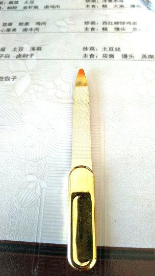 原装正品韩国777 硬指甲灰指甲锉 修甲锉 美甲搓 死皮刀去死皮叉修理角质 美甲工具 全钢金色指甲锉 晒单图