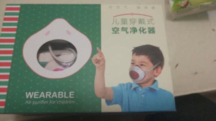 朗沁(LANCH) 儿童防雾霾PM2.5口罩透气防尘电动送风口罩呼吸顺畅KN95电子口罩 蓝色 晒单图