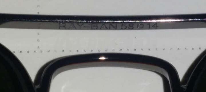 【京东正品】Ray-Ban 雷朋太阳眼镜时尚潮流飞行员系列吴亦凡宋仲基007同款 金框墨绿色-3025-58mm 晒单图