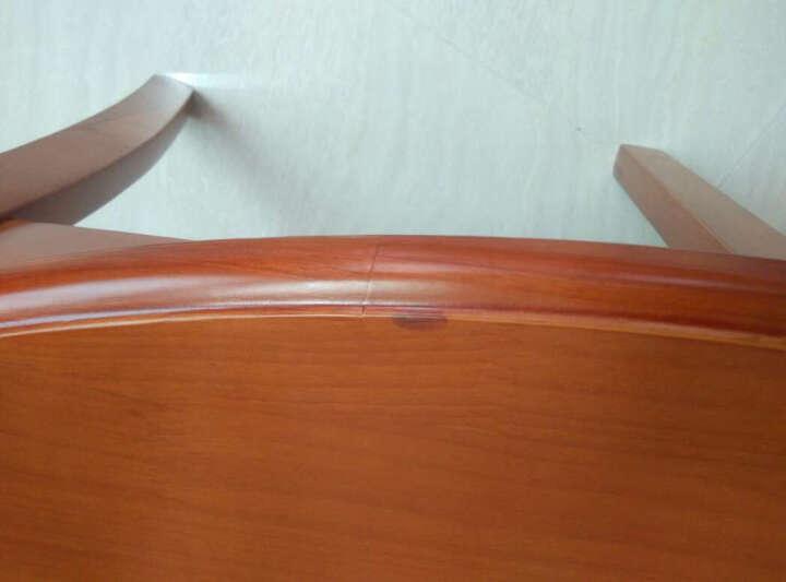 同心树(TONG XINSHU) 实木餐椅 家用靠背椅子 简约现代木凳子酒店餐厅餐桌椅 27地中海 晒单图