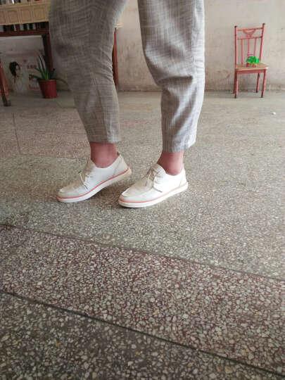 Aerostep 男鞋秋冬季新款 时尚休闲鞋男 潮流商务休闲男士皮鞋板鞋男驾车鞋豆豆鞋TK sj1611黑色 41 晒单图