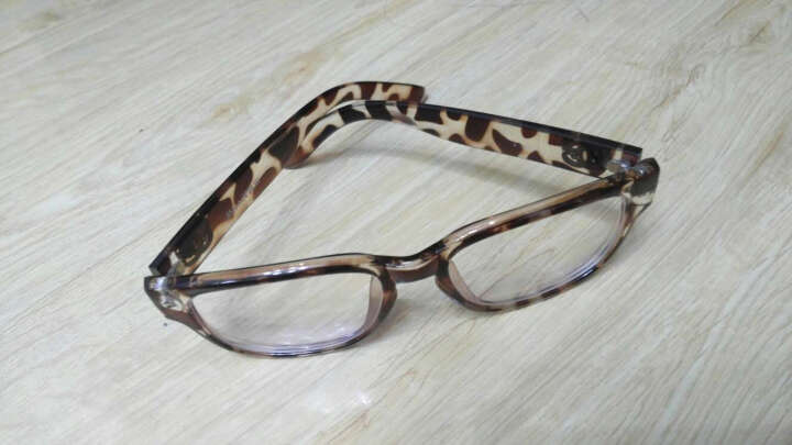 inmix音米经典方框眼镜架平光眼镜女眼镜 电脑护目镜  2042 琥珀色 晒单图