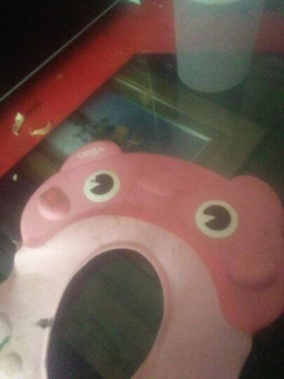 易简(yijian)婴儿儿童可调节洗头帽 宝宝防水护耳洗澡帽 樱花粉 晒单图