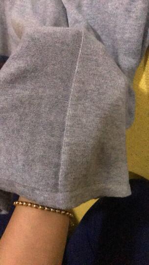 茵曼秋装简约袖身民族针织衫提花圆领长袖毛衣女【8531320498】 花灰色 L 晒单图