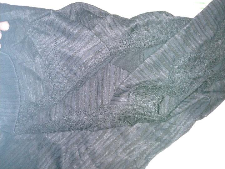 朵可秀品无痕无钢圈文胸非海绵健康舒适睡眠内衣宽肩带女士吊带背心式抹胸蕾丝性感胸罩0083 黑色长款 80A-C 晒单图