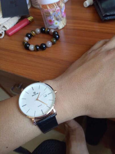 时空(SKONE)情侣手表对表国产钟表石英表皮带情侣表一对男女款学生时尚防水腕表9307 玫金壳白面栗色带男 晒单图