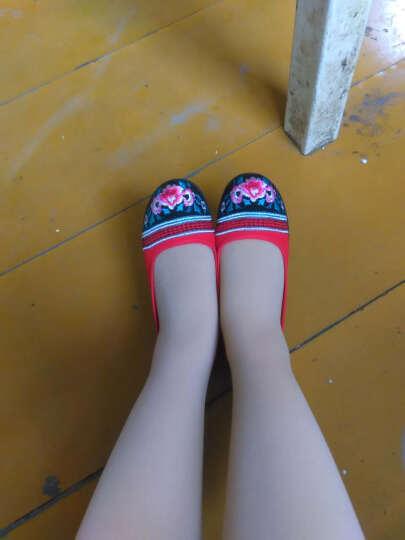 枫树坪 春夏布鞋女鞋绣花鞋女款平底豆豆鞋民族风女单鞋 红色FLJC1301-2 35 晒单图