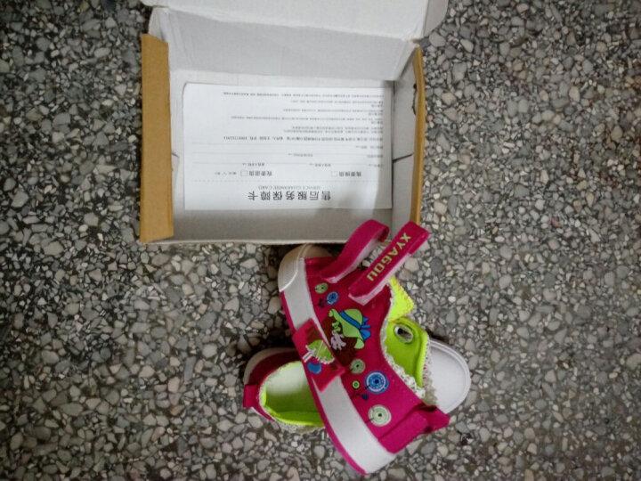 慧宏迪 女童鞋儿童帆布鞋大童运动鞋休闲鞋布鞋宝宝板鞋学生球鞋 桃红色 32码/内长19.3cm 晒单图