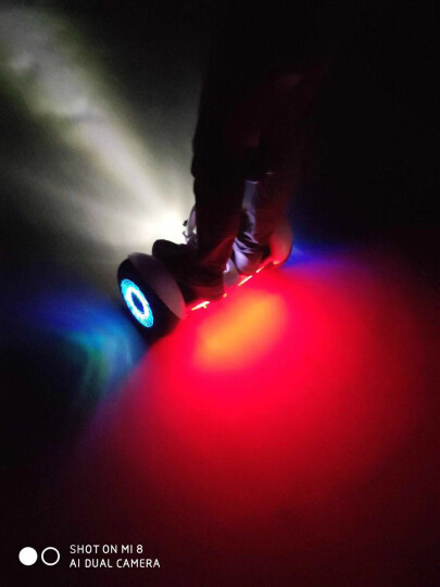 领奥电动平衡车儿童两轮成人智能思维体感平行车上班二轮代步小学生自平衡车越野款双轮带手扶杆10寸腿控 【新款25公里】腿控手控/APP/火焰红定制款 晒单图