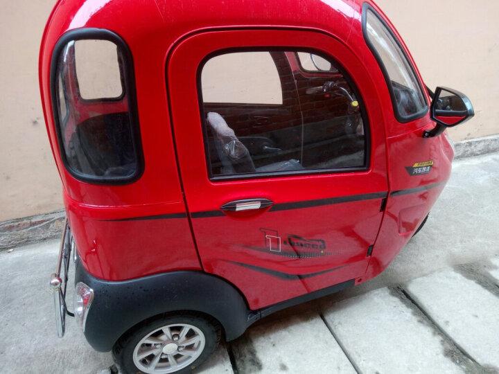 NLIGHT 恩莱德N100全封闭电动三轮车老年休闲代步车 三人座接送孩子雷霆皇款 三色红 中续航(1组6032铅酸电池) 晒单图