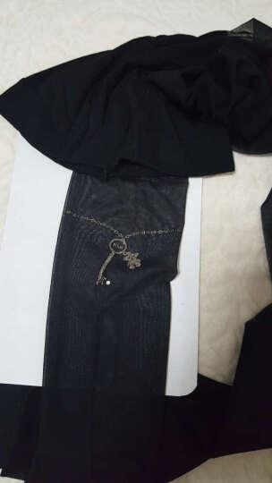 浪莎薄款连裤丝袜女士时尚性感透气假纹身连裤袜丝袜连裤超薄 黑色-小熊钥匙脚链 均码 晒单图