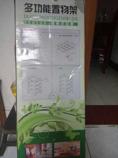 尚辰鑫 不锈钢置物架厨房微波炉储物收纳火锅层架子 四层60x35x100 晒单图