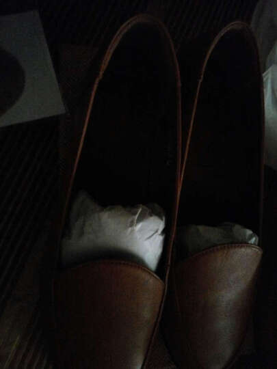 信诺 妈妈鞋真皮软底一脚蹬单鞋新款老人鞋大码女鞋平底皮鞋工作鞋 棕色 41 晒单图