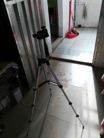 多宝莱 手机夹三脚架手机直播支架三角架单反户外数码相机便携自拍 银色加长版+手机摄影蓝牙遥控器 晒单图