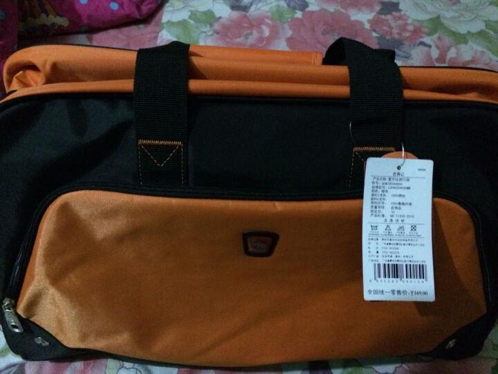 爱华仕旅行包男女旅游包旅行袋大容量行李包手提单肩斜挎防水7003 地图红 晒单图