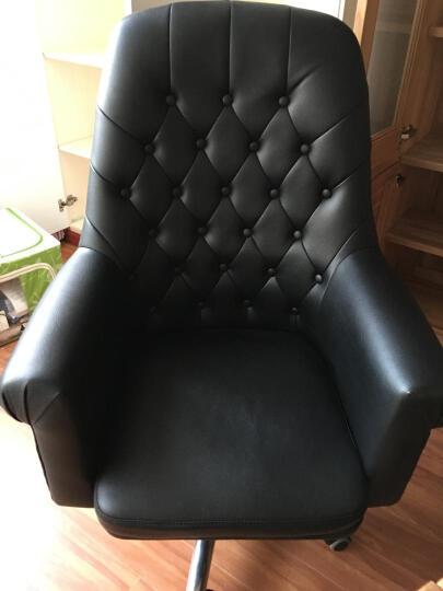 欧美风格电脑椅子时尚大班椅白色真皮老板办公椅家用书房升降转椅 白色飞机西皮 晒单图