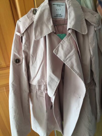 棉立方风衣女中长款韩版秋季2018新款薄款工装纯棉修身小个子外套 玫瑰灰 M 晒单图