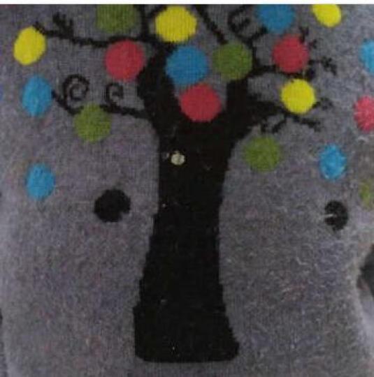 帅精灵女童毛衣秋冬装2018新款儿童套头圆领宝宝针织衫毛衫加绒加厚秋冬季中大童外套潮 小树灰色(不加绒) 140(建议身高140左右) 晒单图
