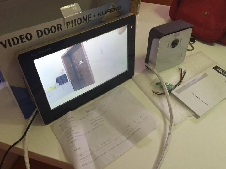 酷丰(KUFENG) 10英寸有线对讲可视门铃家用别墅楼宇远程开锁监控套装102KD 1个红外夜视室外机 1个十寸高清室内机 晒单图