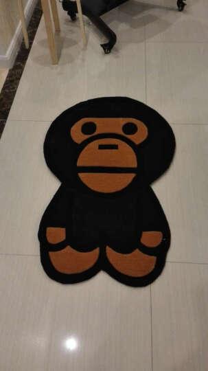 至尚家居 潮牌Bape Milo腈纶地垫 卡通儿童卧室床边地垫 客厅书房脚垫 玄关个性门垫 Bape Milo 0.7米x1.1米 晒单图