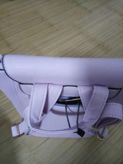 MaithBot双肩包 女时尚韩版女包潮流书包流苏吊坠背包简约包盖式女士包包 玫红色 晒单图