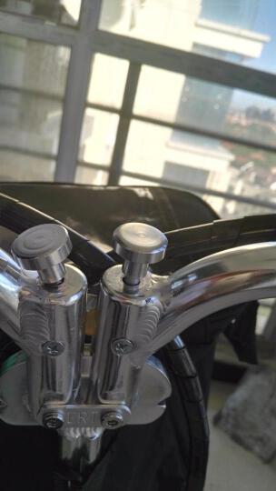 升特电动车  锂电代步代驾电瓶车 12寸可折叠迷你便携城市电动车 350W电机 豪华版 35-45km 银色 晒单图