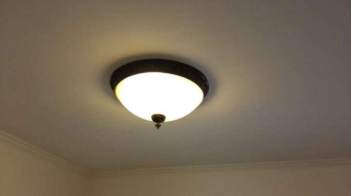 名斯 美式乡村吸顶灯 卧室灯欧式简约阳台灯过道灯厨房灯具灯饰 大号直径47cm 晒单图