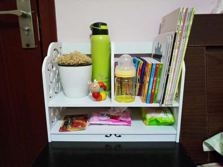 月池家居 无漆创意办公简易书架 桌上小书架置物架储物书架子1q 巴洛克带抽屉小号 晒单图
