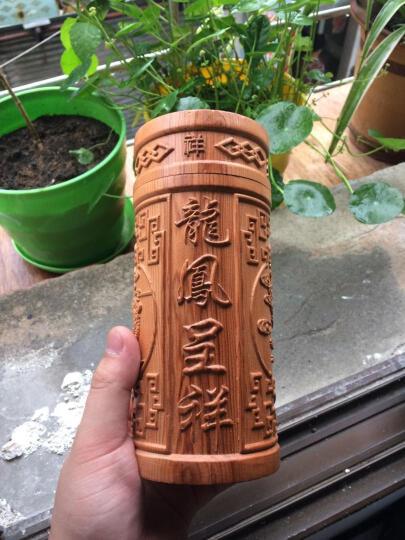 献世 木质红豆树杉杯子工艺品 茶杯茶具水杯 工艺礼品木雕 节日礼品茶具礼盒装 随机样式 晒单图