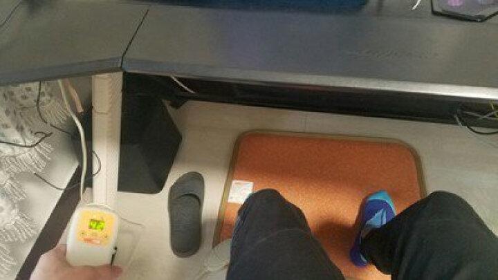 问暖碳晶移动地暖垫取暖器 韩国便携电热地毯 办公室移动暖脚垫 电热垫电地暖 高温速热电热板60*50 LG2306 晒单图