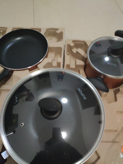 苏泊尔炫彩三件套锅 炒锅具套装组合三件套平底锅汤锅不粘锅套装T1127T(明火专用) 晒单图