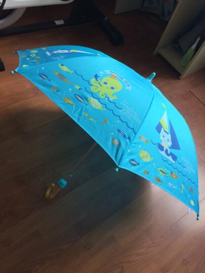 天堂伞儿童雨伞男女小学生半自动儿童伞小孩公主伞长柄卡通晴雨伞5到12岁 桔色卡通小熊+口哨+文具 晒单图