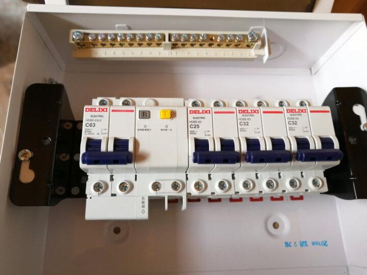 德力西空气开关带漏电保护器 家用漏保总闸开关带过载保护 触电断路器 32A 63A 2P 100A 1P+N 25A 晒单图