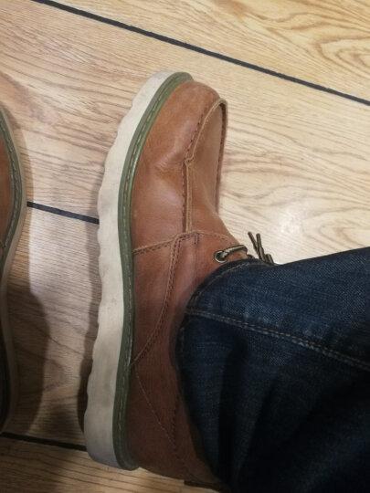 走索(Z.Suo)工装鞋男低帮大头鞋英伦男士休闲皮鞋 红棕色 40  皮鞋码 晒单图