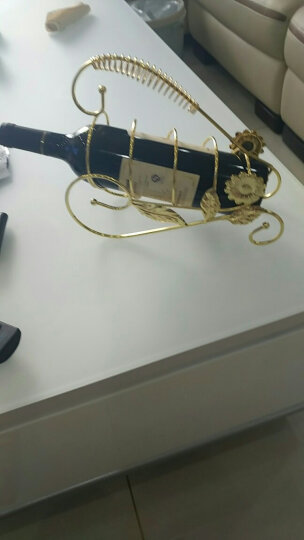 何依米(heyimi) 欧式创意红酒架铁艺酒柜摆件装饰品摆件客厅家居摆设电视机柜玄关现代家居工艺品 樱花挂6杯架+6酒杯 晒单图