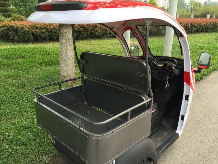 菲特(FEET) 恩莱德N100S半封闭客货两用老年代步车城市休闲电动三轮车差速电机可带货 宝马棕 锂电池60V30AH 晒单图