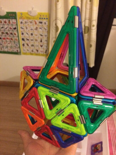 琛达(MAGSPACE)66件决战星空套装 第二代精钢系列百变提拉玩具 早教益智建构拼搭拼插积木磁力片 晒单图