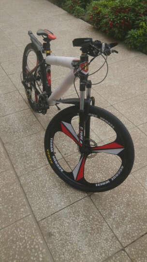 永久(FOREVER) 27速山地车自行车/铝合金26寸男女单车 镁铝合金一体轮 突破者 黑金色 一体轮 晒单图