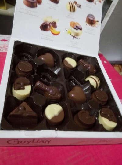 吉利莲比利时进口巧克力礼盒装黑巧克力新年糖果可可脂榛仁夹心贝壳抹茶巧克力生日情人节礼 雪球松露纸盒360g 晒单图