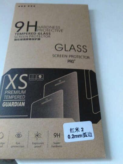 奔信 红米2钢化膜手机玻璃保护贴膜+送手机壳 适用于小米红米2/红米2A增强版/4.7英寸 弧边0.2mm抗蓝光 晒单图