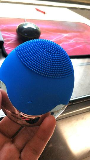 彩妮(CHAINER)洁面仪电动洗脸仪毛孔清洁器 电子美容仪硅胶清洁器 洗脸刷美容按摩洗脸神器 浅蓝色 晒单图