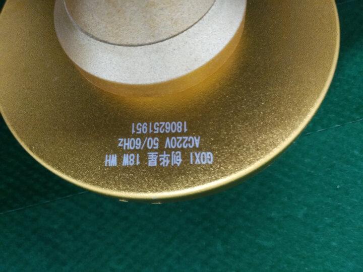 创华星LED灯泡大功率明亮e27螺口鸟笼球泡灯18W24W36W球泡灯节能灯 大功率飞碟灯 E27大螺 白 18W 晒单图