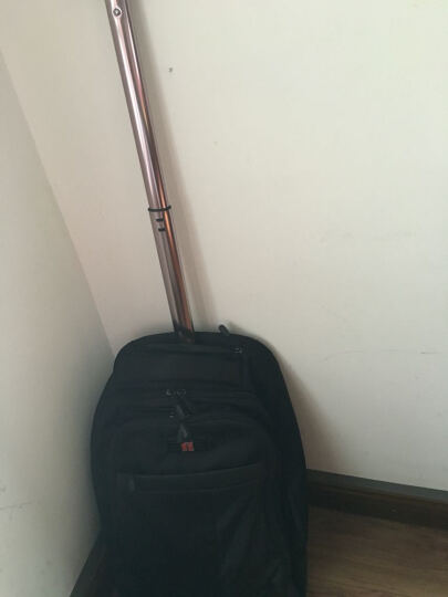 瑞士十字(SWISSWIN)拉杆包 多功能男女旅行包登机箱包 黑色 晒单图
