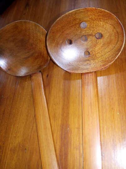 唐易 日式龟甲实木拉面勺木勺漏勺套装 汤勺 火锅勺 味千拉面勺子 晒单图