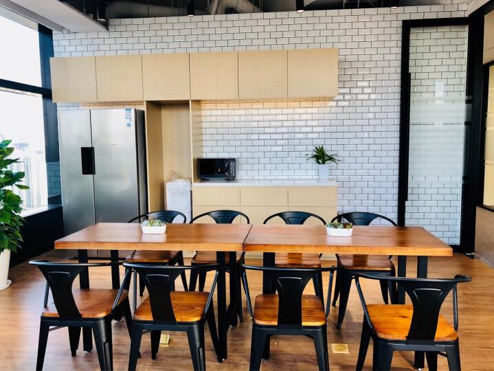 御冠(YUGUAN) 美式乡村loft工业风格家具复古做旧铁艺实木餐桌书桌办公桌会议桌 160*70*75木板厚度5CM 晒单图